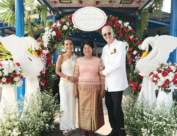 Hochzeitsfoto mit Noi's Mutter Khun Mae Wang.