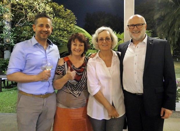Auch Pattaya war vertreten bei dem Event. (Von links) Marcus Schneider, Elfi Seitz, Marlis Wenger und Dr. Wolfgang Schwertner.