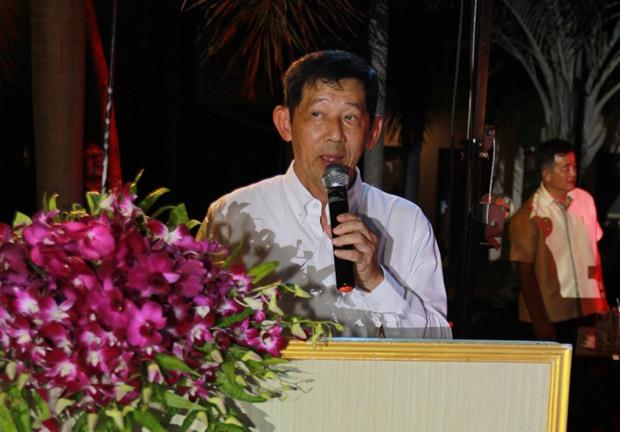 Der Bürgermeister bei seiner Ansprache.