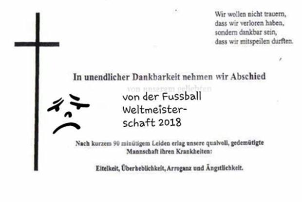 Fussball-Fans haben uns diesen Nachruf geschickt.