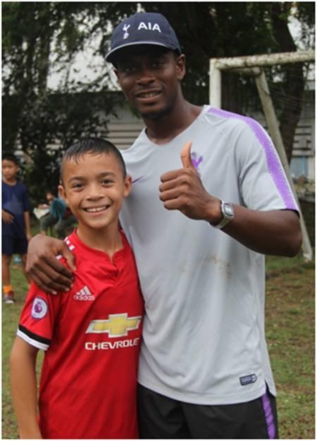 Shaun with 'Neymar'