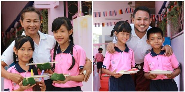 Die Kinder erhielten ein besonders gutes Essen, gesponsert von den Gästen, an diesem Tag.