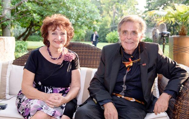Axel Brauer beim Fernsehinterview mit Elfi Seitz.