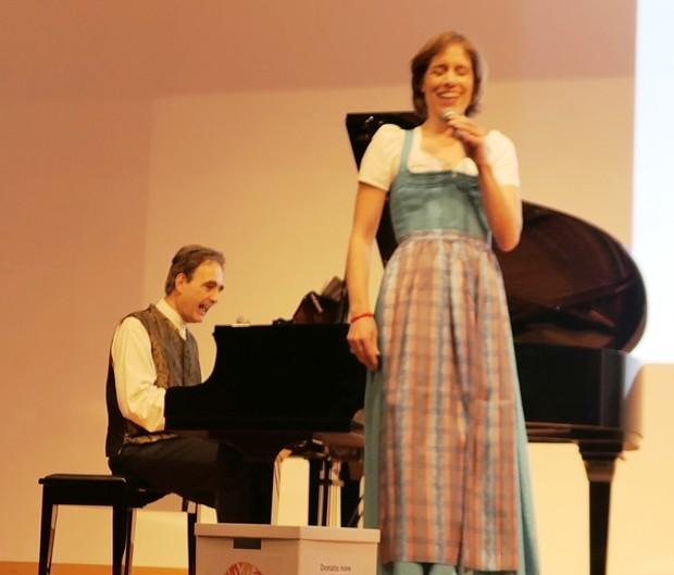 Agnes Palmisano gemeinsam mit Paul Gulda.