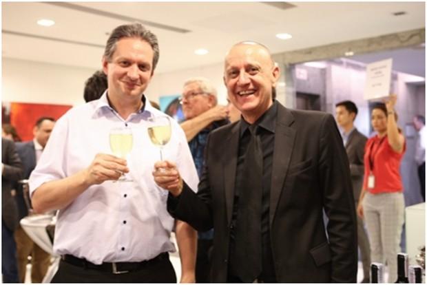 Peter Lampl mit seinem Geschäftspartner Dr. Eder.