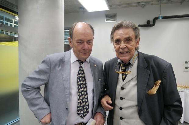 Axel Brauer mit Gastprofessor Winfried Worath.