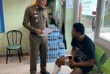 Der 30-jährige drogensüchtige Somchai Boonsri wollte nach erfolgloser Flucht mit einem Messer auf die Polizisten losgehen.