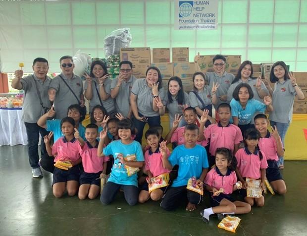 Unilever Thai Trading Co.,Ltd. spendet wichtige Dinge des täglichen Lebens.