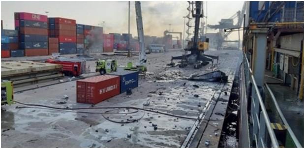 Ein Bild der Zerstörung.