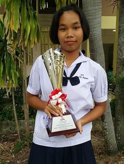 Dieses talentierte Kind vom Child Protection & Development Center kam als Sieger nach Hause.