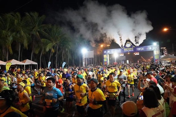 12,000 Läufer nahmen am Bangsaen Marathon 2019 teil.