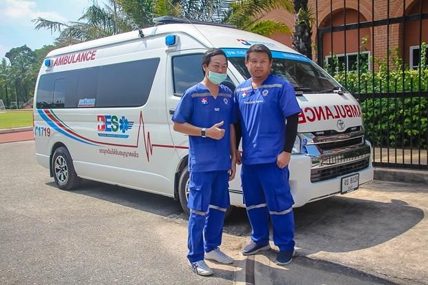Das Rettungsteam des Bangkok Hospital Pattaya stand immer bereit.