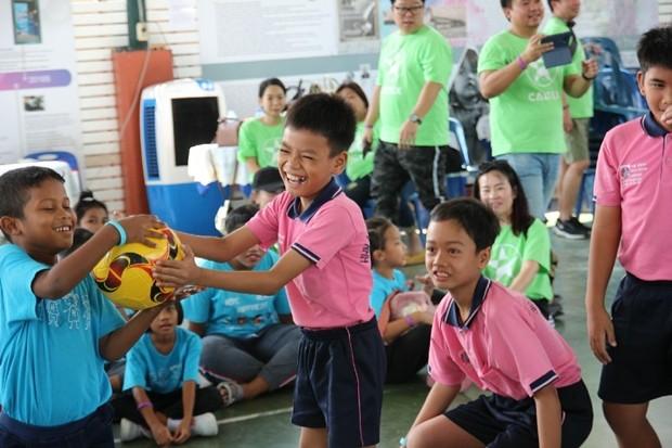 """""""Trip Sanook (fun trip) hatte viel Spaß mit den Kindern."""