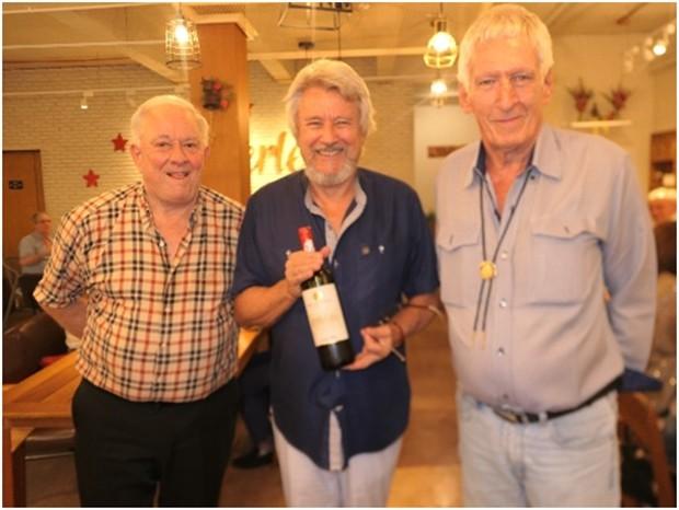 Die drei Geburtstagsjungs: (von links) Günther Dumke, Markus Schlegel und Peter Schlegel.