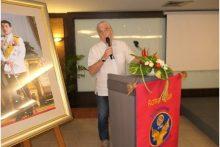 Helmut Buchberger bei seinem Vortrag.