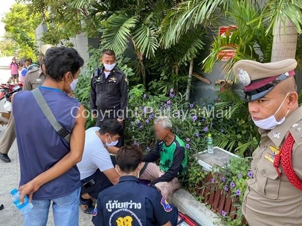 Der Polizei gelang es ihn zu beruhigen und kam dann von alleine wieder herunter.