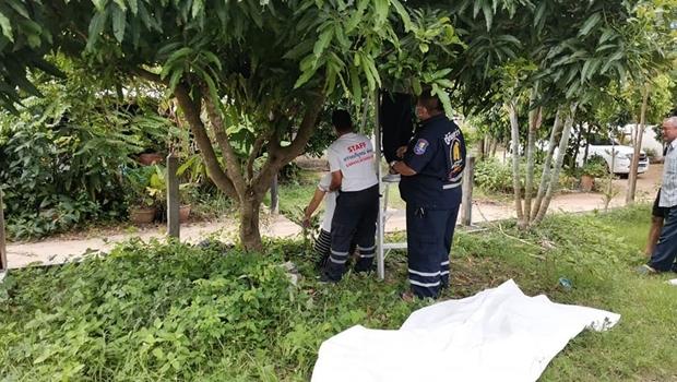 Die junge Frau Thanaporn Subsorn erhängte sich an einem Baum.
