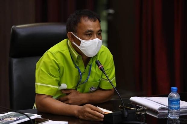 Der Vizemanager der Stadt Pattaya, Kiattisak Sriwongchai, leitete die Pressekonferenz.