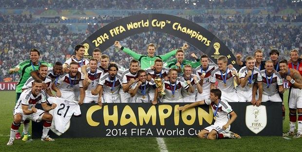 Deutschland, die Sieger der Fußball-WM 2014 in Brasilien.