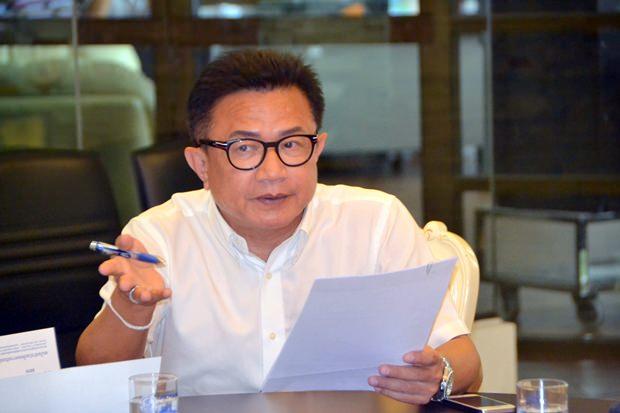 Vizebürgermeister Weerawat Khakai hatte den Vorsitz bei der Pressekonferenz.