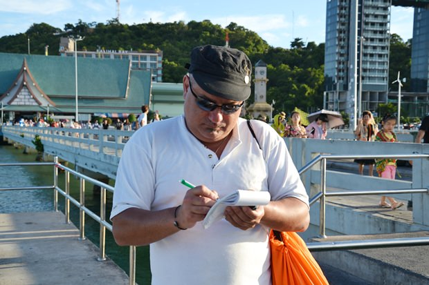 Dean Cosenza, ein australischer Tourist sagt, er vertraut immer noch auf die ?Sicherheit in Pattaya.