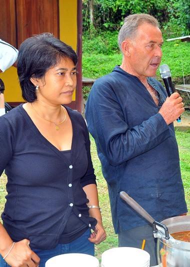 Mayuree und Gottfried Auer – unere liebenswerten Gastgeber in Chiang Mai.