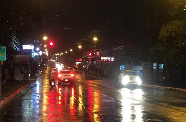 Pattaya 3. Road nur zwei Stunden nach dem Regen.