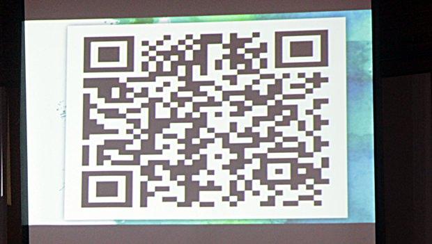 QR Code für jene, die auf dem laufenden sein wollen.