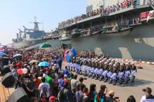 Soldaten auf dem Sattahip Marinestation.