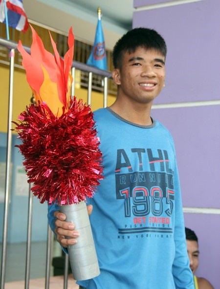 Dieser junge Mann wird Thailnd bei der Spezial-Olympiade vertreten.