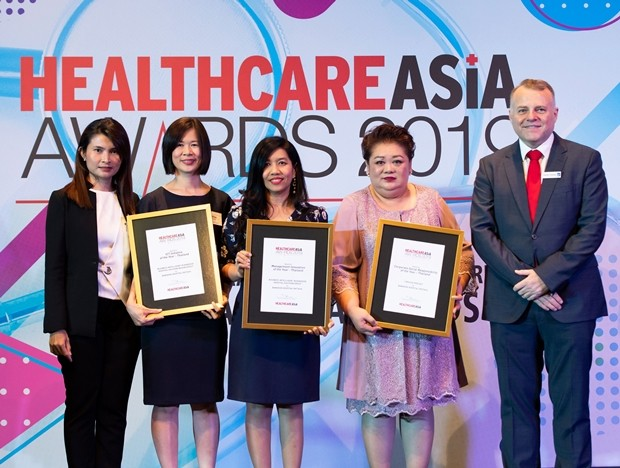 "Das Bangkok Hospital Pattaya gewann drei wertvolle preise bei den ""Healthcare Asia Award 2019"" in Singapur."