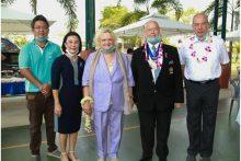Dr. Eva Hager (Mitte) mit (von links) Siromet Akarapongpanitch, Radchada Chomjinda, Rodney Charman und