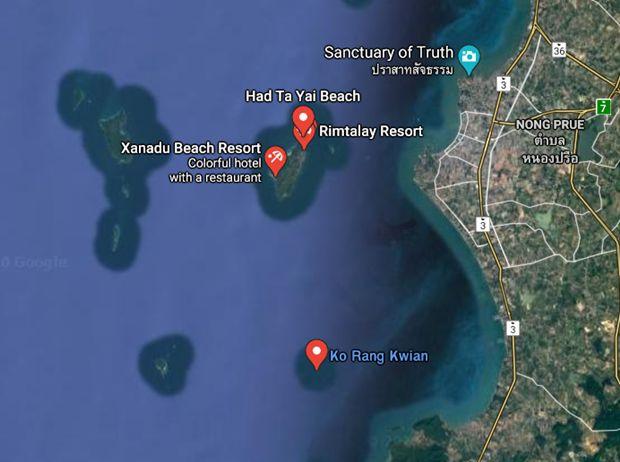 Zur Erweitererung des Jomtien Strandes benötigt man 640.000 Kubimeter Sand, der von der Insel Koh Rang Kwian geholt wird.